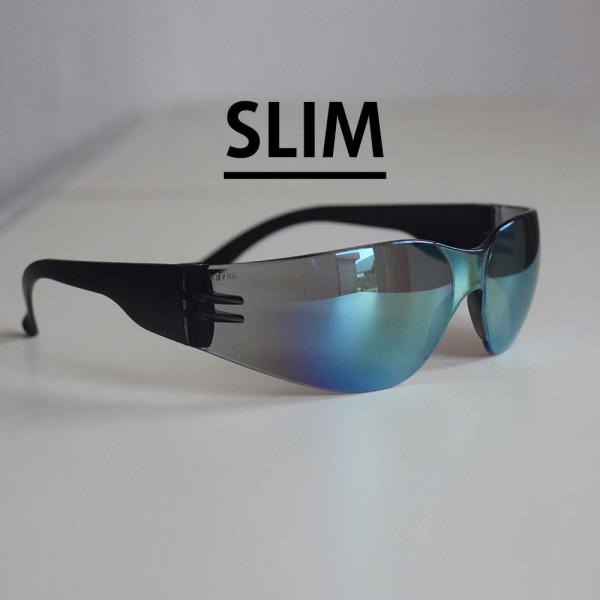 Sonnen- und Schutzbrille blau SLIM verspiegelt ultraleicht und flexibel