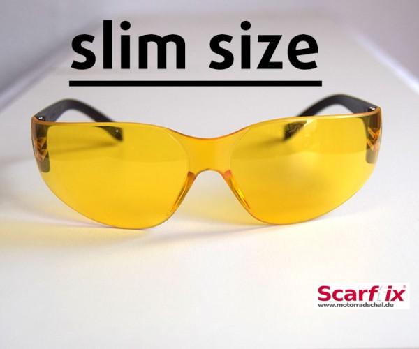 Bikerbrille gelb SLIM
