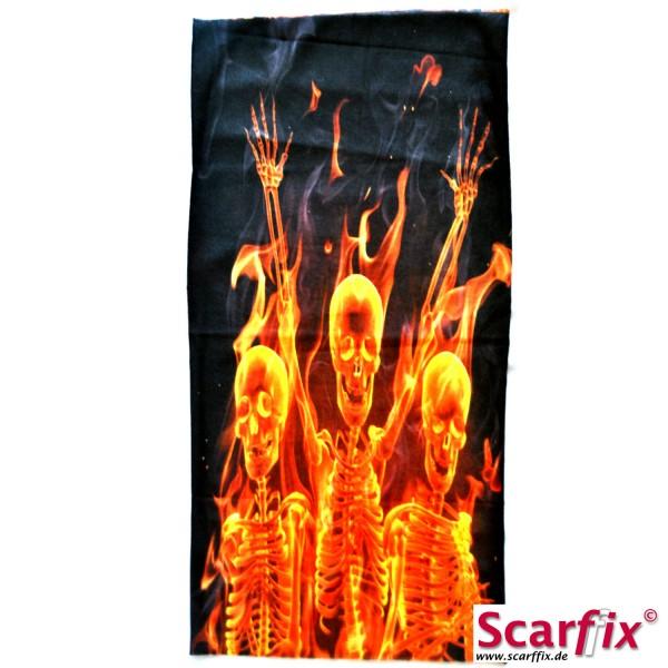 Schlauchschal Flammende Skelette