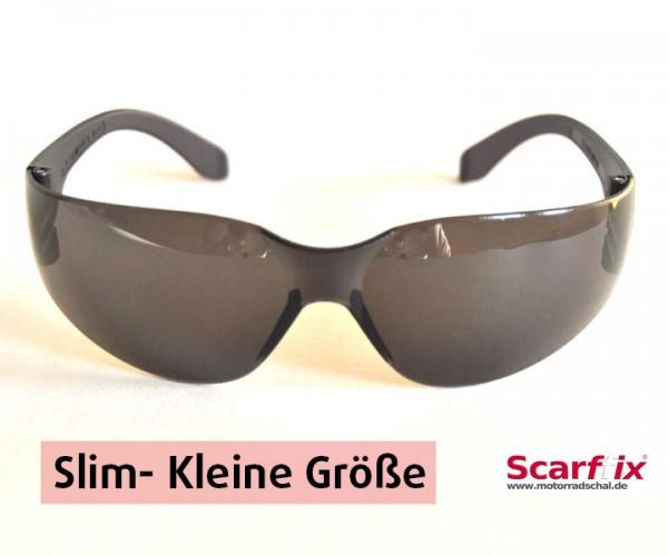 Bikerbrille slim schwarz