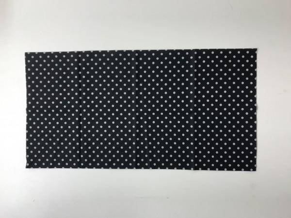 Schlauchschal Schwarz mit Punkten
