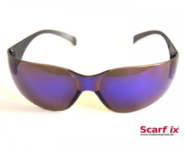 Sonnen- und Schutzbrille blau verspiegelt ultraleicht und flexibel