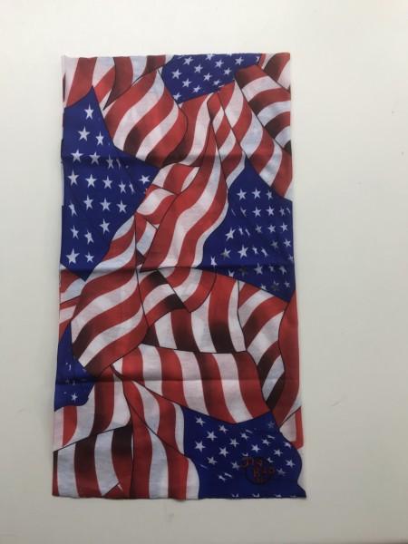 Motorradhalstuch USA Flaggen